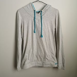 Gray and blue roots active sweater